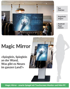 Magic Mirror - smarter Spiegel mit Touchmonitor und Android Mini-PC