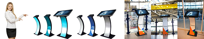 kioskterminal monitorstandfuss easy pc stand farbig