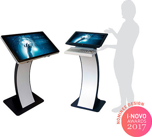 i NOVO AWARDS 2017 NOMINEE DESIGN easy pc stand Kioskterminal Terminal with touch screen floor standing 32