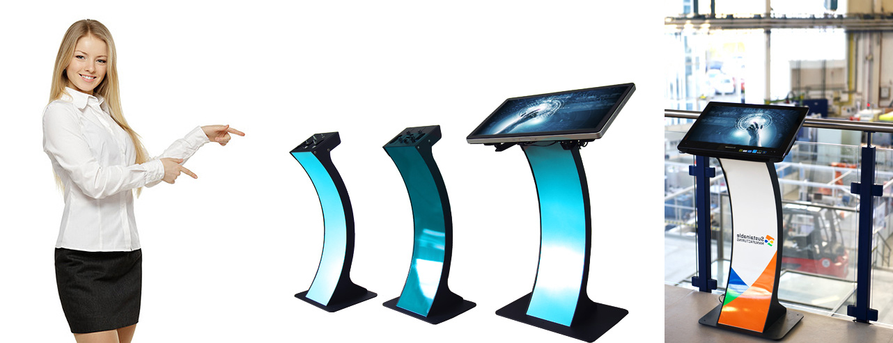 kiosk terminal easy pc stand 22 42 zoll touchscreen monitor preferred colour ral