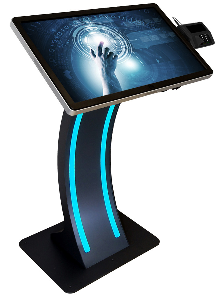 SB-Terminal easy pc stand LED mit 32 Zoll PCAP Touchmonitor und EMV-Bezahlmodul