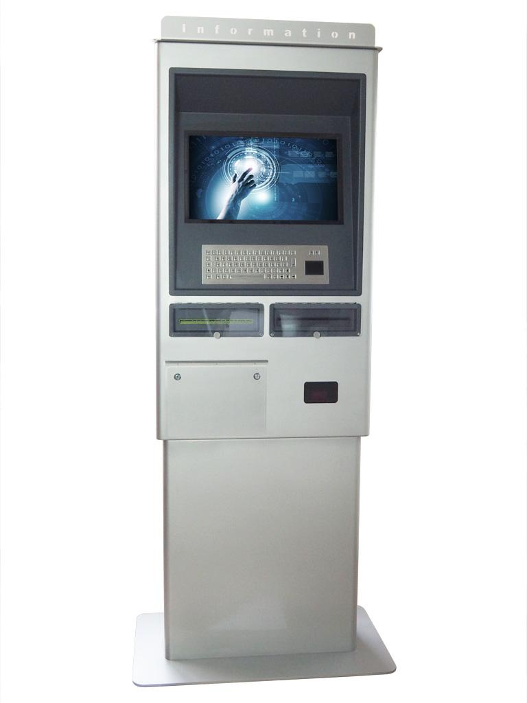 Optional mit Edelstahltastatur, A4 Rollendrucker, Bondrucker, Barcode Scanner, RFID Reader, PC, Webcam etc.