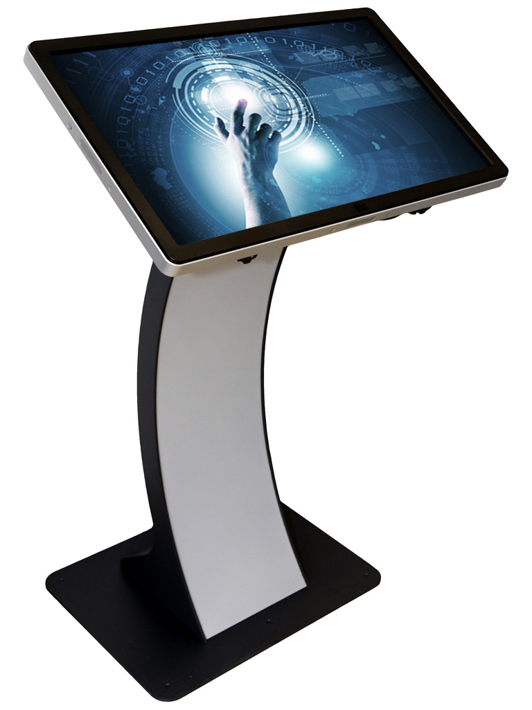 Kioskterminal Monitorstandfuss Easy Pc Stand 32 Zoll Touchmonitor